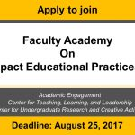 Apply for Faculty Academy on High-Impact Educational Practices (HIPs)