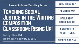 Research-Based Teaching Series event information for the Blue Ridge, Cumming, Dahlonega, Gainesville, and Oconee campuses