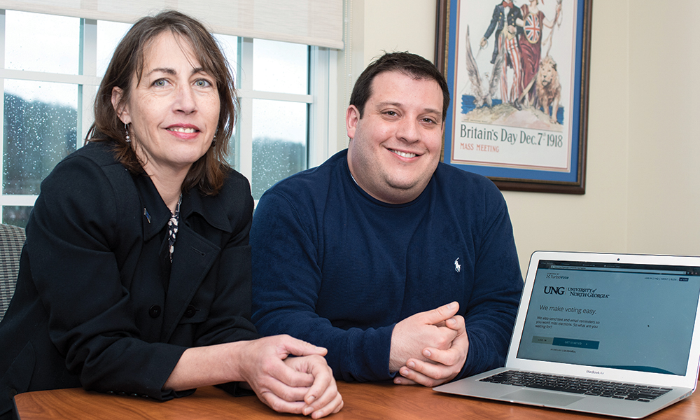 Renee Bricker and Nathan Price at the University of North Georgia are the lead research team for the TurboVote IT Integration Research Project.