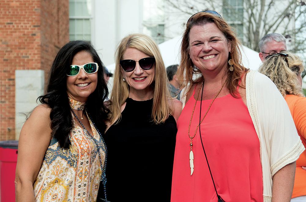 Alumni Weekend - three female alumni enjoying the day.