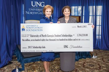 The UNG Foundation awarded more than $1.7 million in student scholarships during the 2016 fiscal year, a total celebrated at the Scholarship Gala held March 3 in Gainesville, Georgia.
