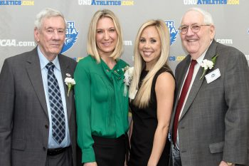 UNG welcomed five new members into its Athletics Hall of Fame on Feb. 4: Richard Coleman, Keisha Hall Cassese, Haines and Carolyn Hill, and Courtney McGuire.