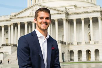 Jacob Dietrich, '15, has received a highly competitive Rangel Fellowship to continue toward his goal of working in the Foreign Service.