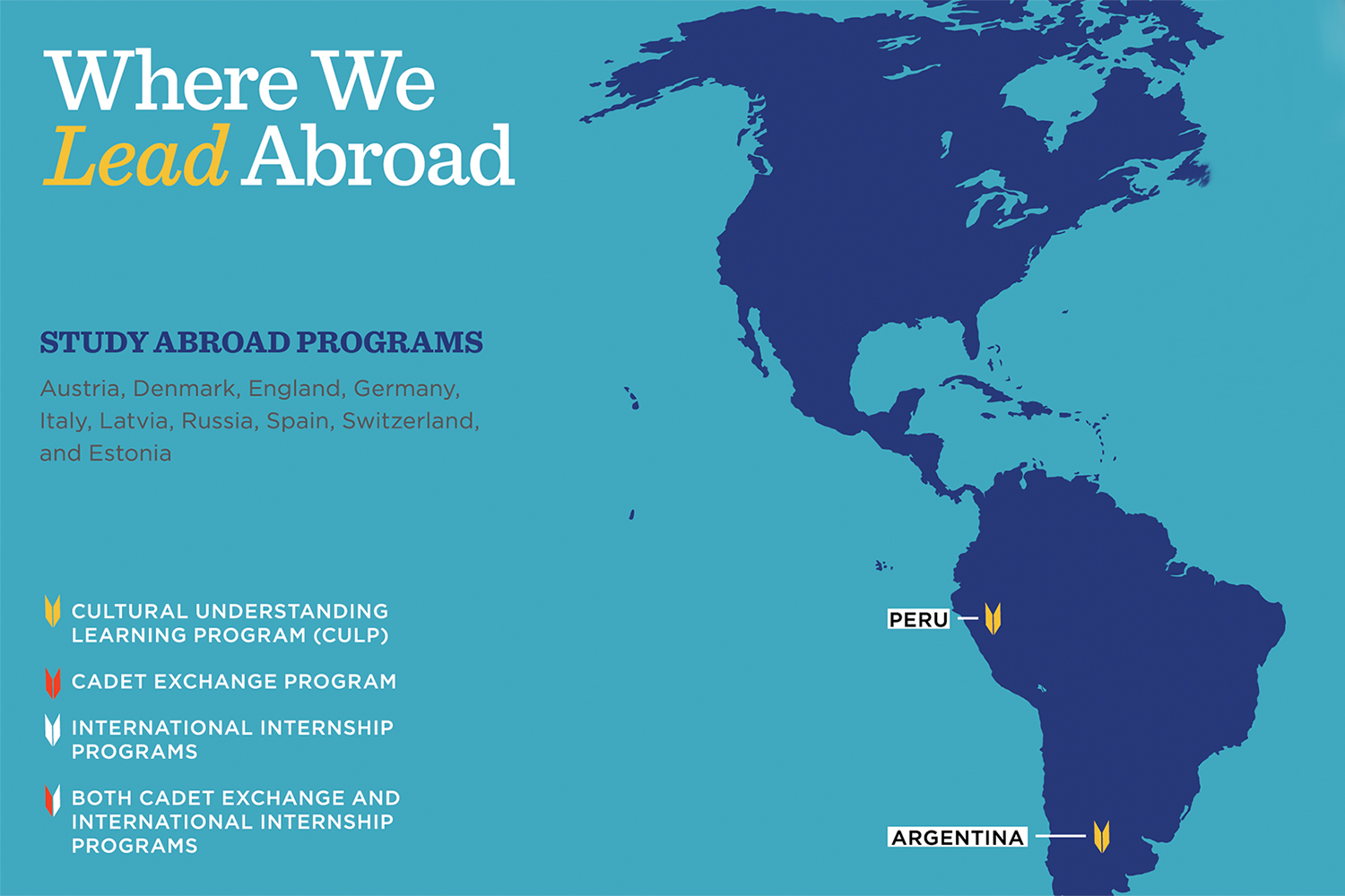 Study Abroad locations - Americas
