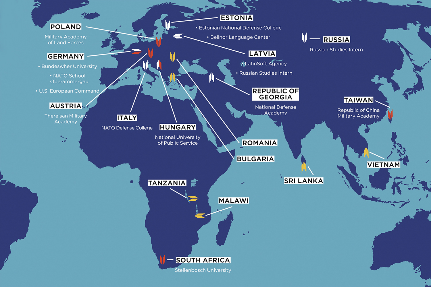 Study Abroad Locations - Eastern, Asian, and African