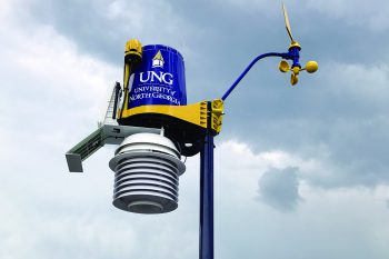 The weather stations at UNG provide important data for environmental science, geography, and geographic information systems classes.