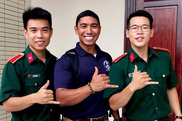 Cadet Hite in the CULP program in Vietnam