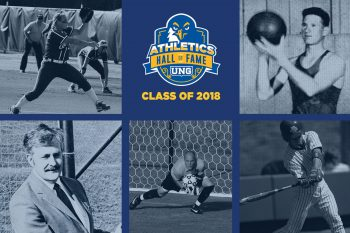 UNG Director of Athletics Lindsay Reeves and the UNG Athletics Hall of Fame committee welcomed five members into the eighth induction class of North Georgia Athletics Hall of Fame.
