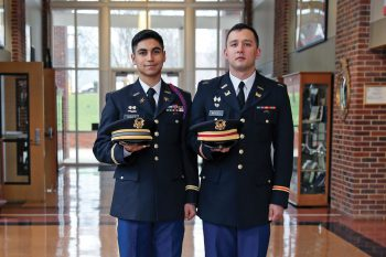 Two Army Reserve Officers' Training Corps (ROTC) cadets at UNG have ranked in the top five out of 5,560 cadets in the 2017-18 U.S. Army Cadet Command Order of Merit List (OML).