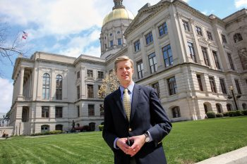Ben Jarrard was named UNG's director of state government relations in August 2017. The job appealed to the 2013 UNG graduate, who previously worked as a special assistant for Gov. Nathan Deal.