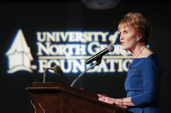 UNG awarded nearly $2.8 million in student scholarships during the 2017 fiscal year, a feat celebrated at the sixth annual Scholarship Gala held March 23 at the Forsyth Conference Center in Cumming, Georgia.