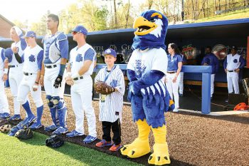 A raucous celebration at UNG's Bob Stein Stadium was held as Chandler Holcomb, the 2018 Make-A-Wish recipient from Gainesville, Georgia, was introduced to a cheering crowd before the start of the UNG baseball game against the University of West Florida on April 17.