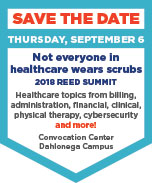 Reed Summit, sept 6 - not everyone in healthcare wears scrubs