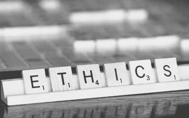 Ethics in Scrabble tiles for ethical business practices article.