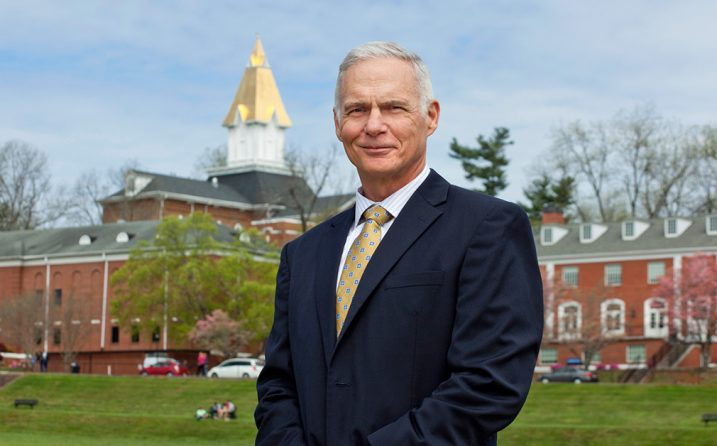 Retired Lt. Gen. James Terry poses on campus at the University of North Georgia