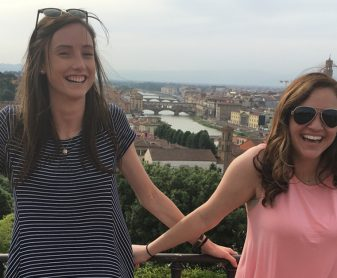UNG students pose for a picture in Rome, Italy