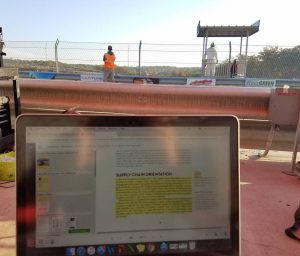 Marketing textbook online at the racetrack