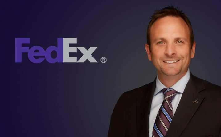Neil Gibson with FedEx logo