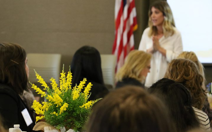 Kristy Dickerson speaks to students at Confidence UNG