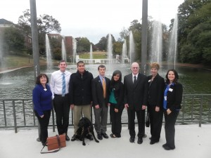 UNG students, faculty and staff following the Mid-Atlantic Regional Ethics Bowl.