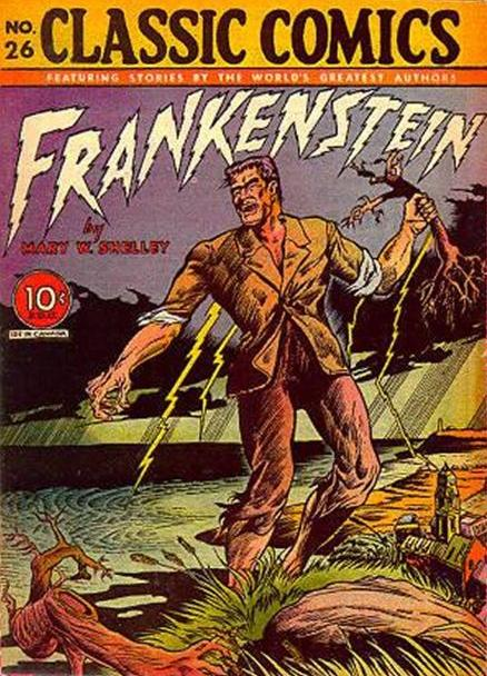 "Mid-1940s edition of ""Frankenstein"" from Classic Comics"