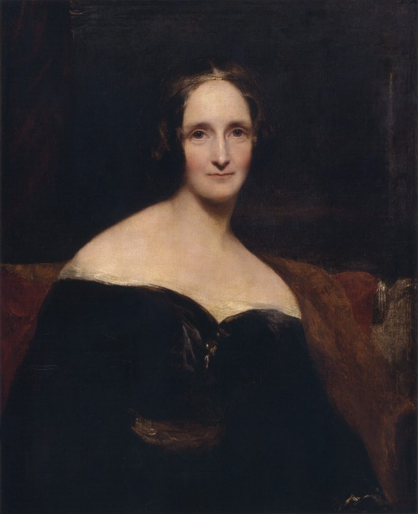 Portrait of Mary Shelley by Richard Rothwell, from Wikimedia Commons