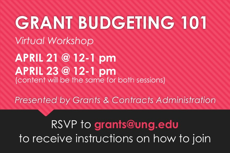 Grant Budget 101 Spring 2020