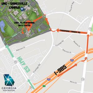 Georgia Film Festival Map, UNG Gainesville Campus