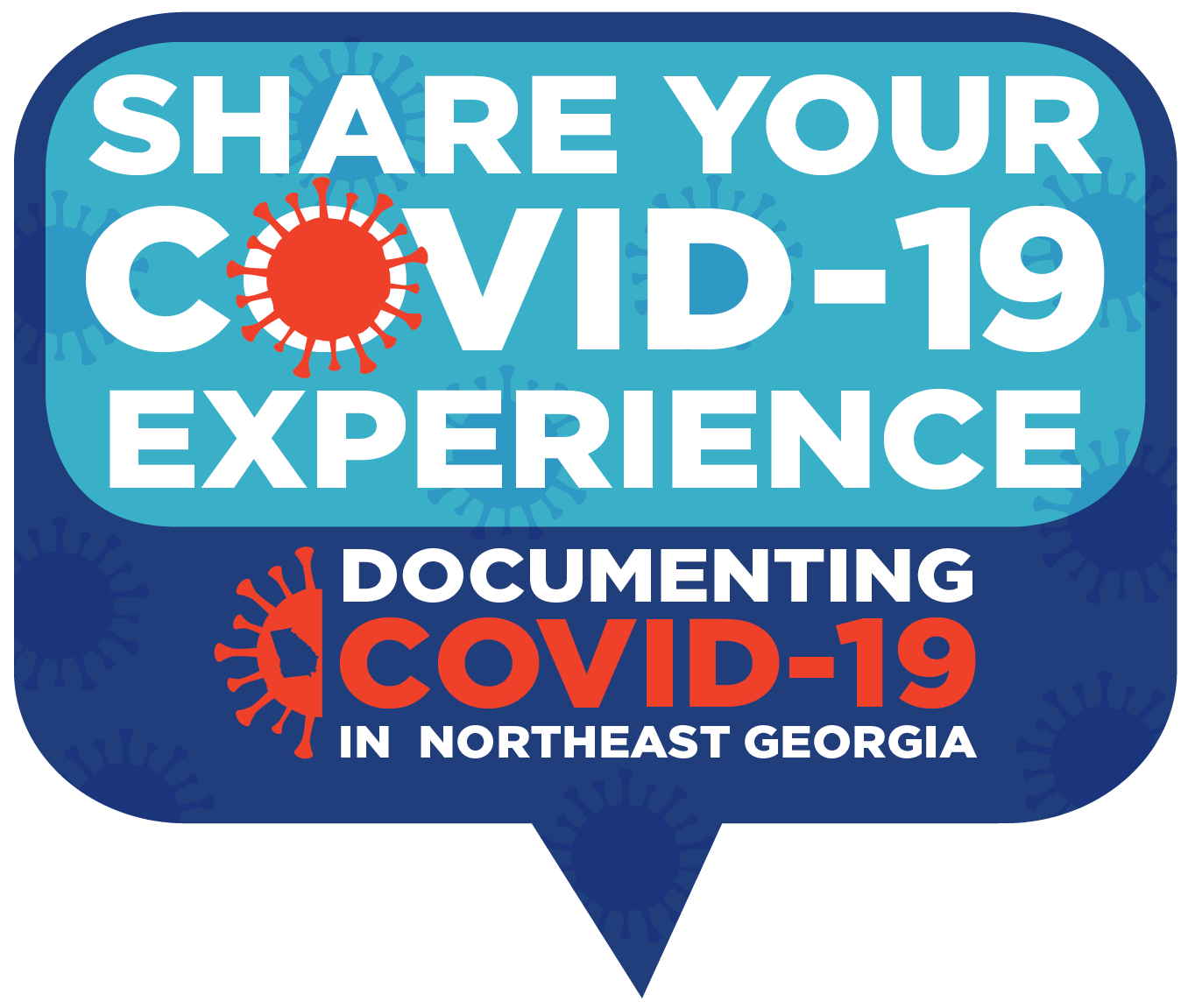 Share your COVID-19 Experience conversation bubble