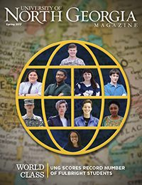 Front cover of Spring 2017 issue of UNG magazine.