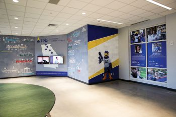 The partnership forged between UNG and Junior Achievement (JA) of Georgia years ago to improve financial literacy and leadership development has grown stronger with the development of a Career Center inside the new Mike and Lynn Cottrell JA Discovery Center at North Georgia, which is only the third JA Discovery Center in the state.