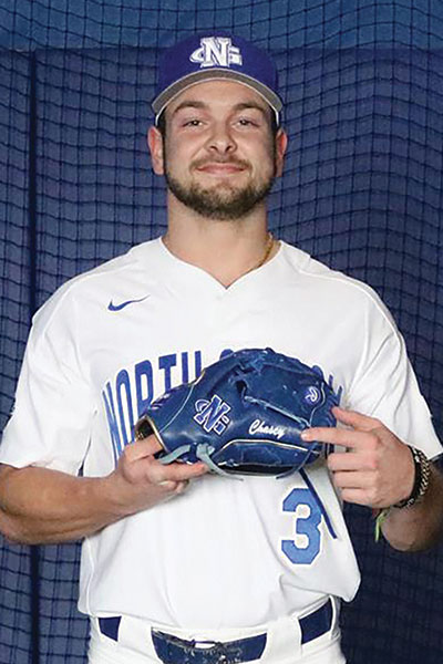 Chase Sudduth in his UNG Baseball uniform