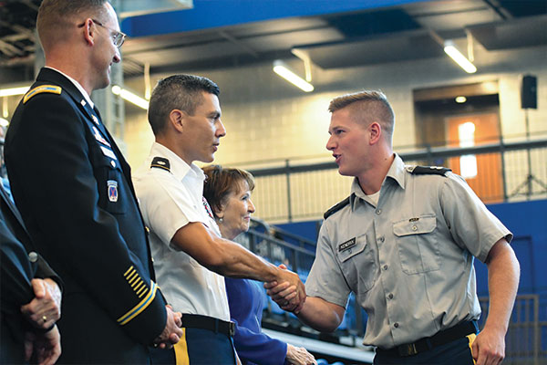 Cadets shaking hands