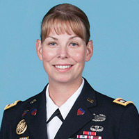 Greta A. Railsback in uniform