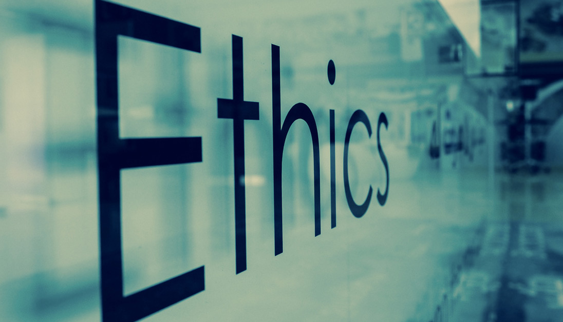 Ethics on a training board.