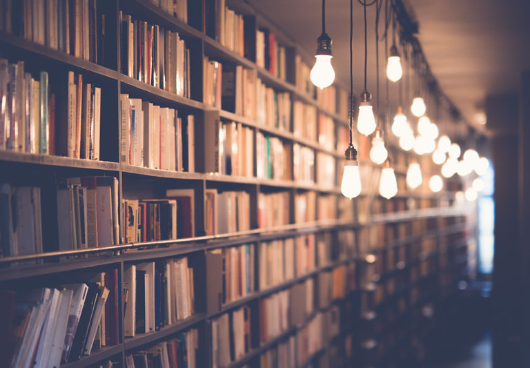 Library of business books