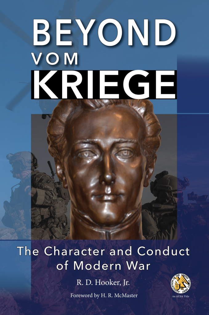 Front cover of Beyond VOm Kriege: The Character and Conduct of Modern War, published by the UNG Press, July 2020. The cover features a sculpted bust of Carl von Clausewitz, the author of Vom Kriege.