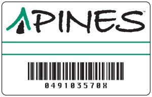 A copy of the Georgia PINES library card,  obtained from the Georgia Public Library Service.