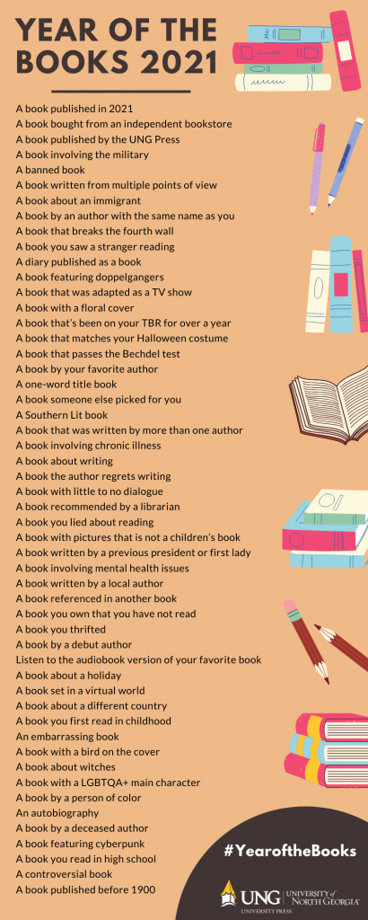Prompts for the Year of the Books reading challenge. View a list of the prints at