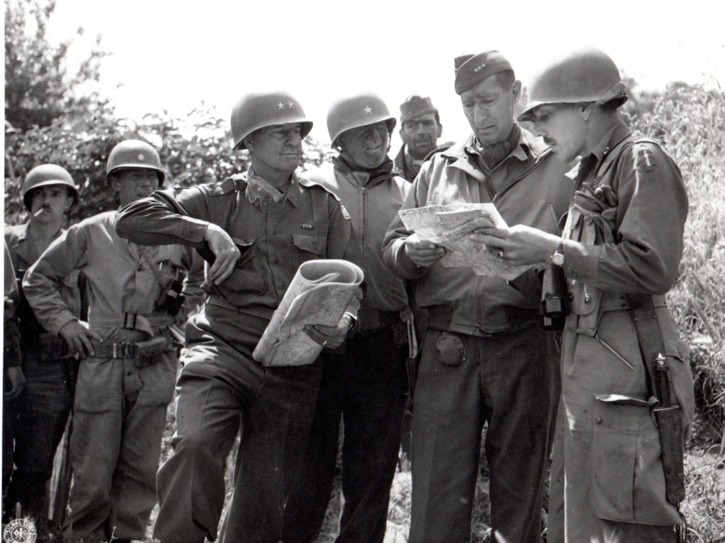 Showing multiple U.S. soldiers in the outskirts of Rome, June 1944