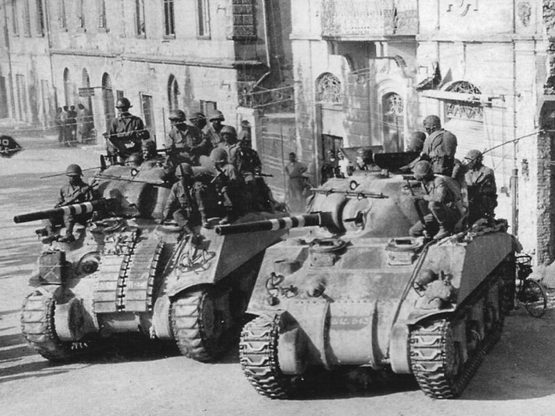 B Co 13th Tank Battalion in Italy